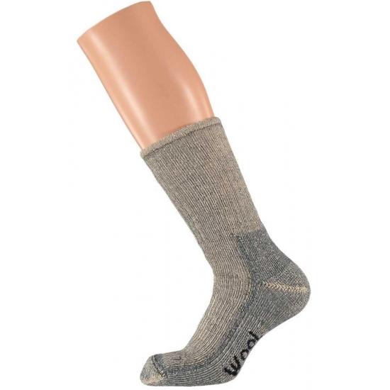Extra warme grijze sokken maat 45/47