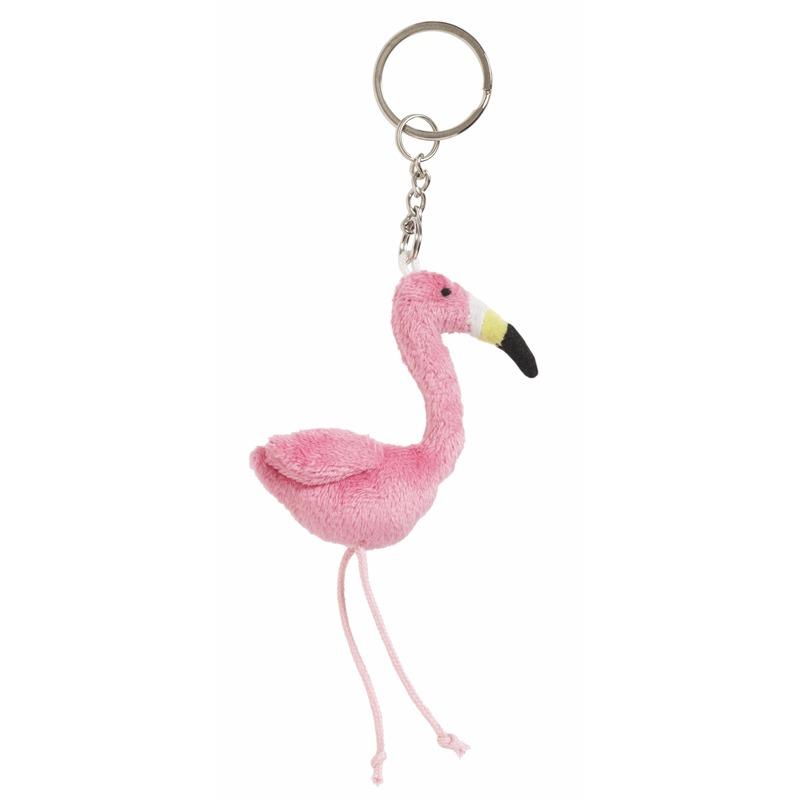Flamingo sleutelhanger 6 cm