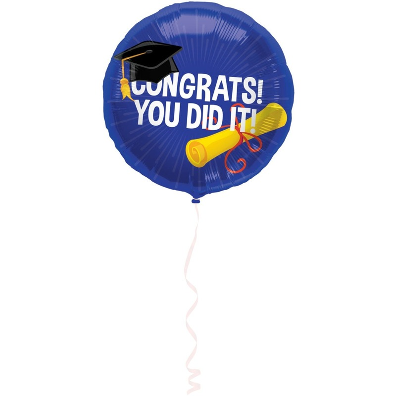 Folie ballon geslaagd/afgestudeerd 45 cm