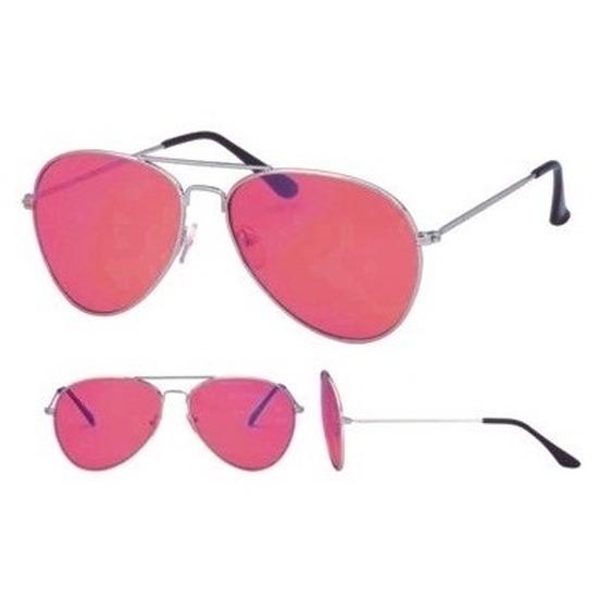 Fopbril bekijk het leven door een roze bril