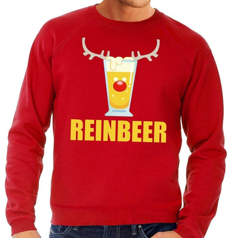 Foute kersttrui Reinbeer rood voor heren