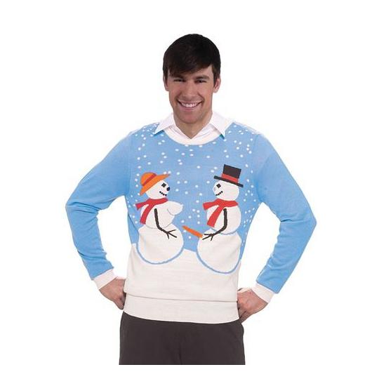 Foute kersttrui sneeuwmannen