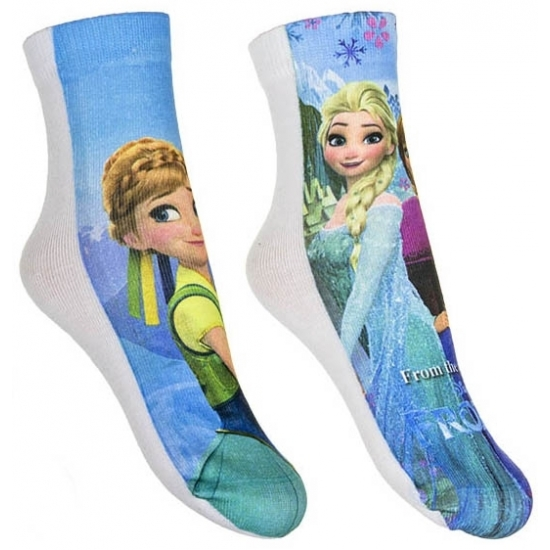 Frozen meisjes sokken 2-pak blauw