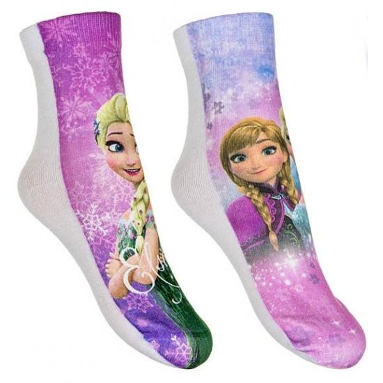 Frozen meisjes sokken 2-pak roze