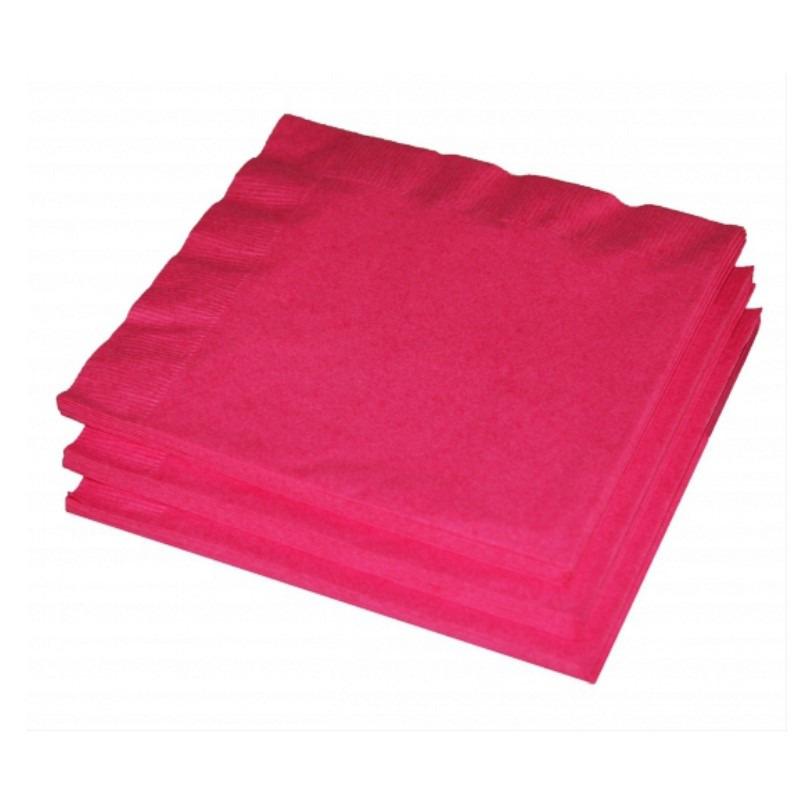 Fuchsia roze servetten 33 x 33 cm