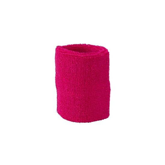 Fuchsia roze zweetbandje voor pols