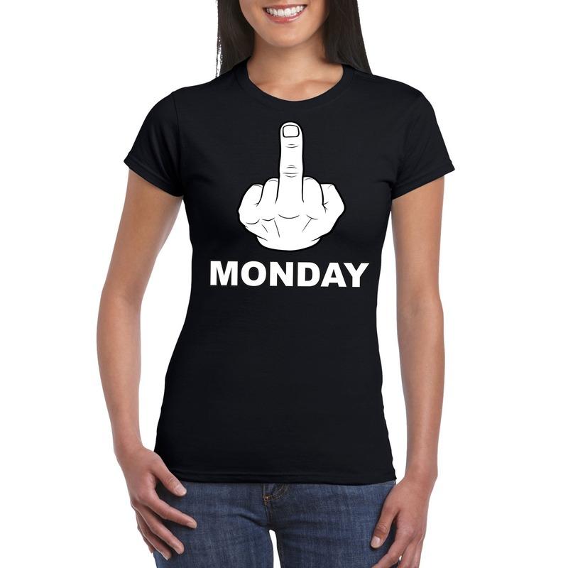 Fuck monday t-shirt zwart voor dames
