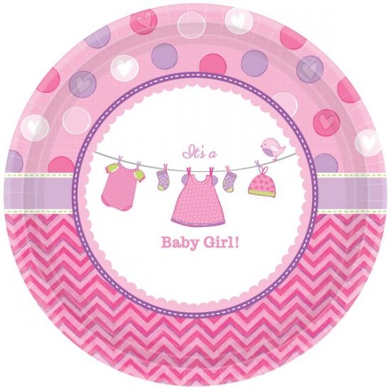 Geboorte meisje bordjes baby girl