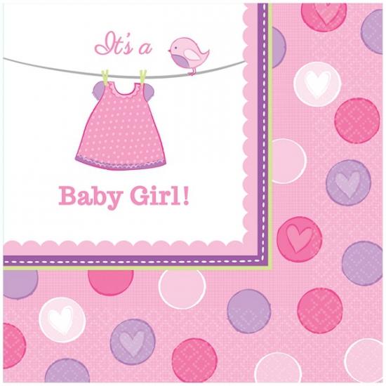 Geboorte meisje servetten baby girl