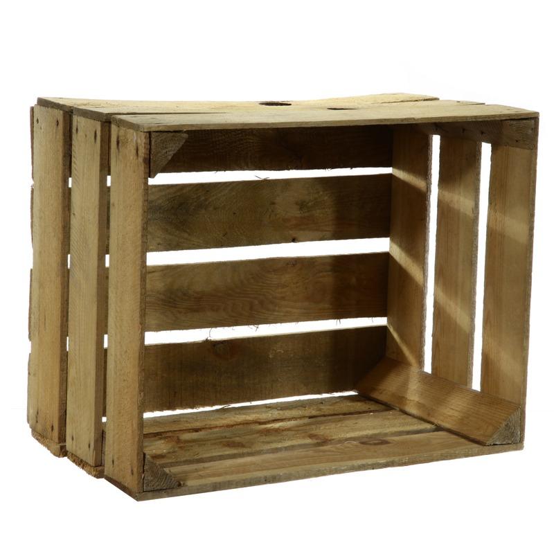 Gebruikte houten fruitkist 30 x 50 x 40 cm