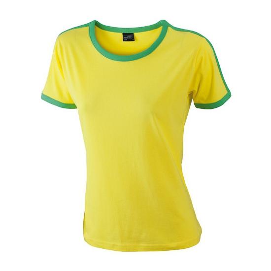 Geel met groen dames t-shirt