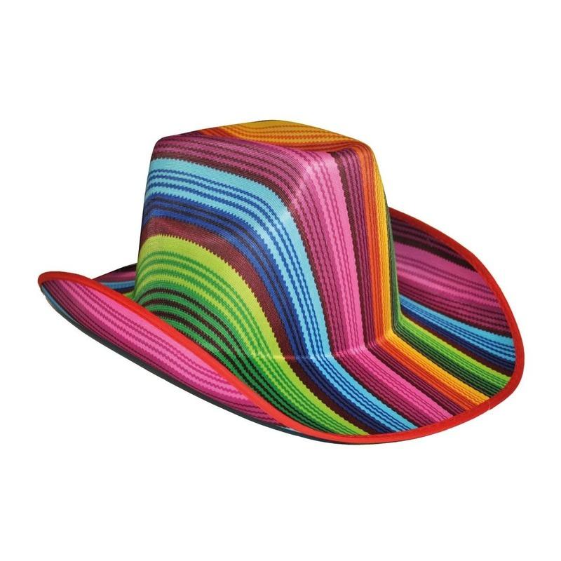 Gekleurde gestreepte cowboyhoed