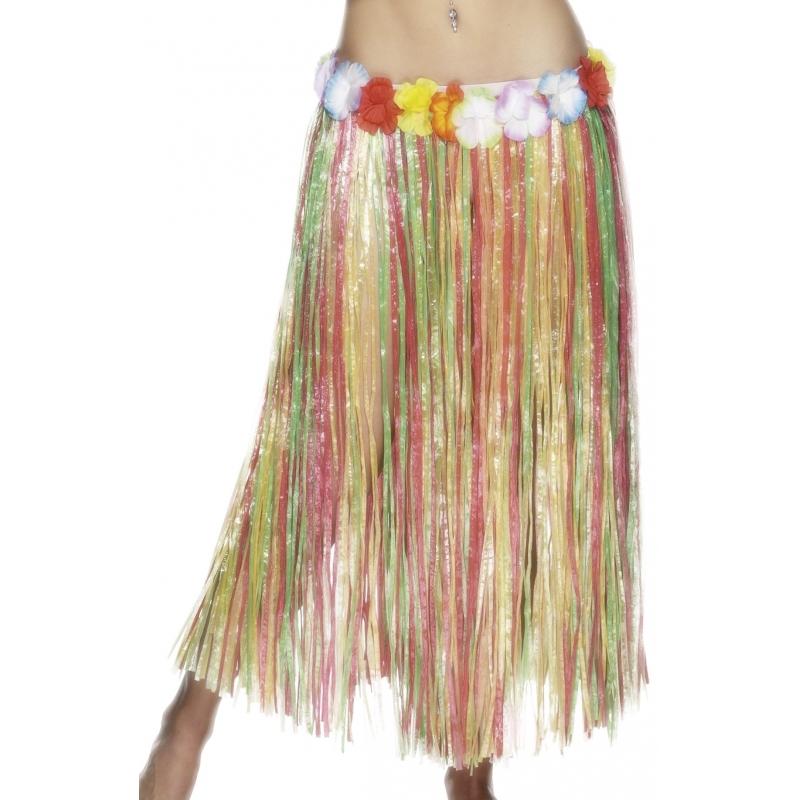 Gekleurde hawaii rok 80 cm