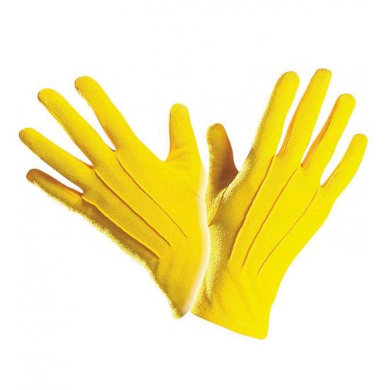 Gele handschoenen