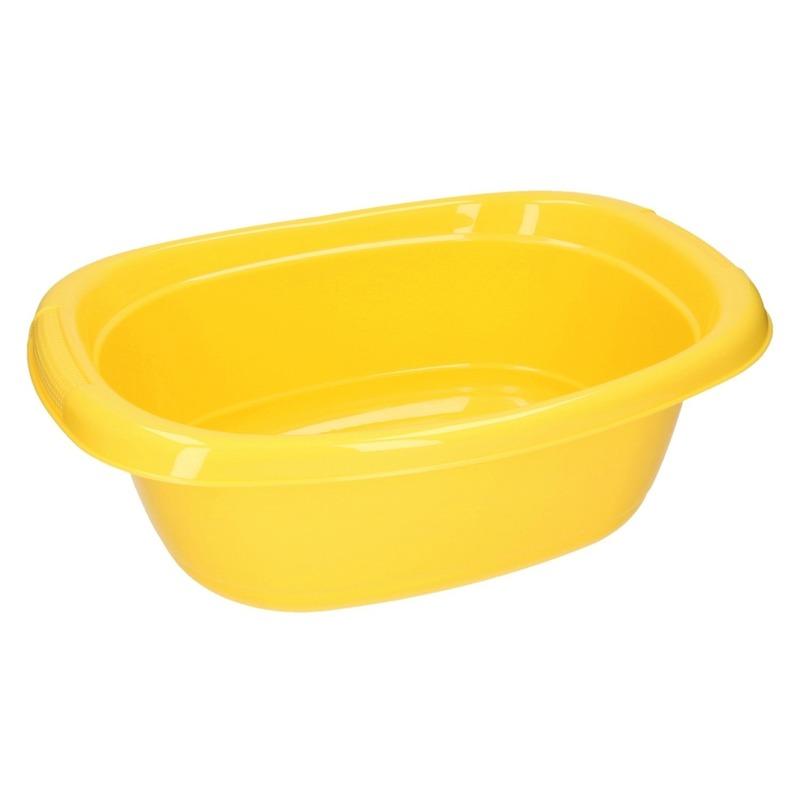 Gele ovale afwasteil 10 L