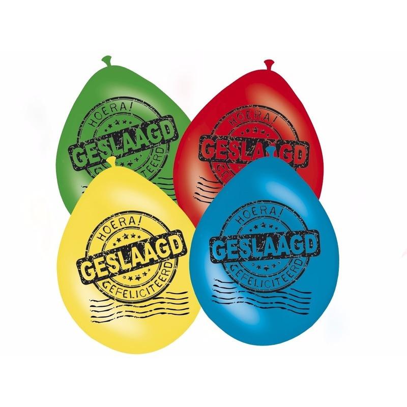 Geslaagd versiering ballonnen 8 stuks