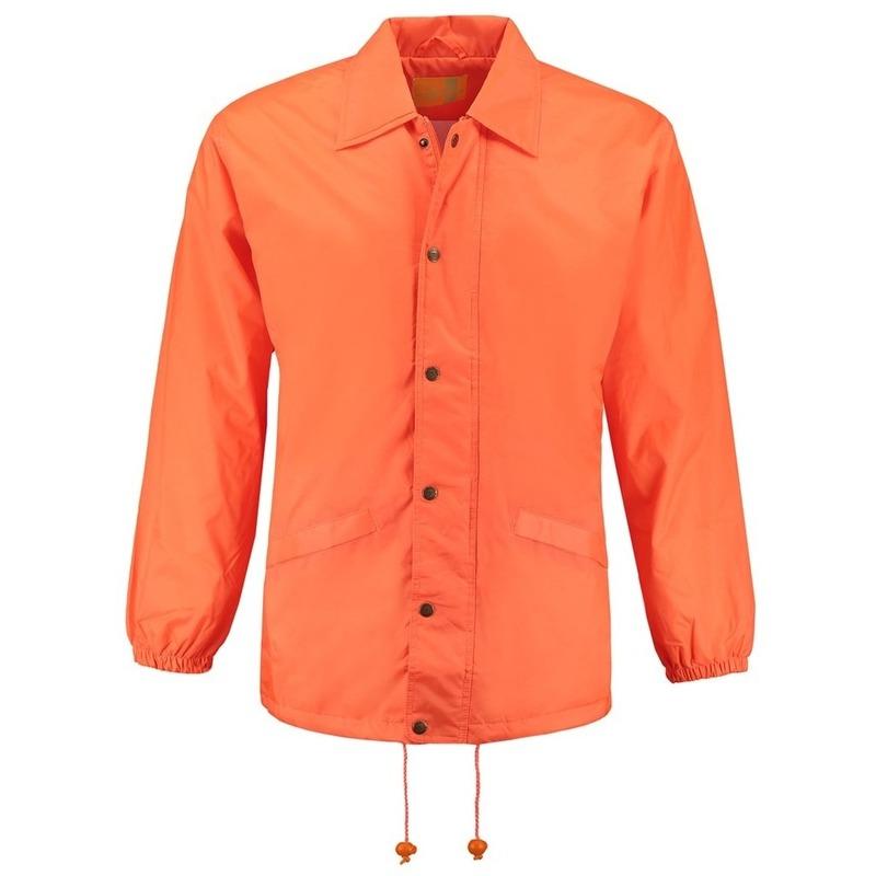 Gevoerde windjas oranje