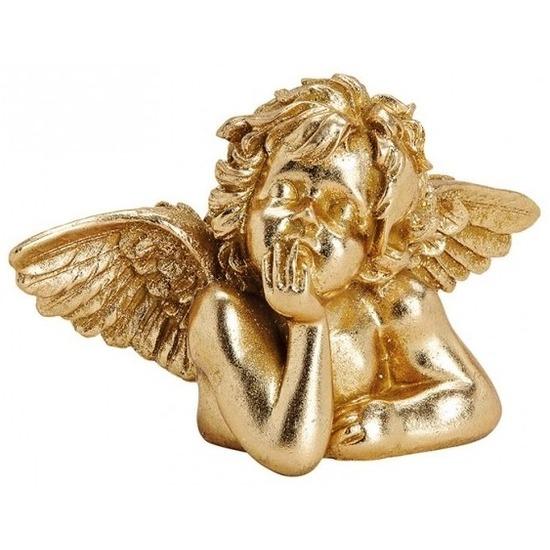 Gouden decoratie engel beeldje 23 cm