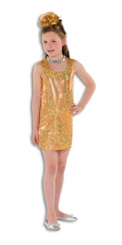 Gouden glitter jurk voor meisjes
