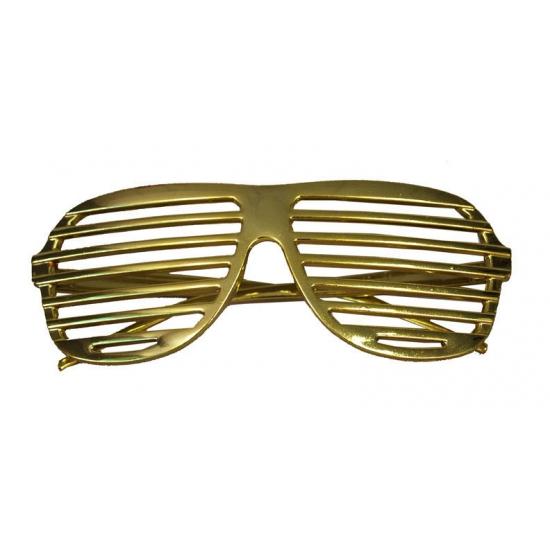 Gouden lamellen bril