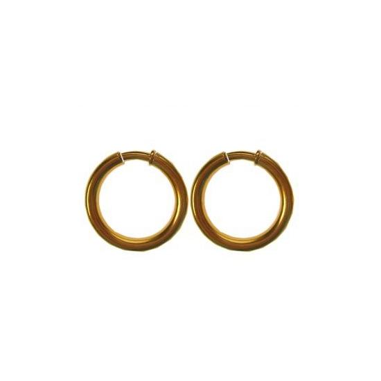 Gouden Pieten oorbellen 35 mm