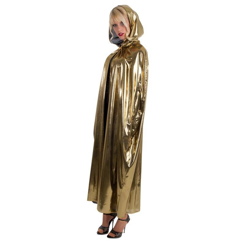 Gouden verkleed cape/mantel voor volwassenen