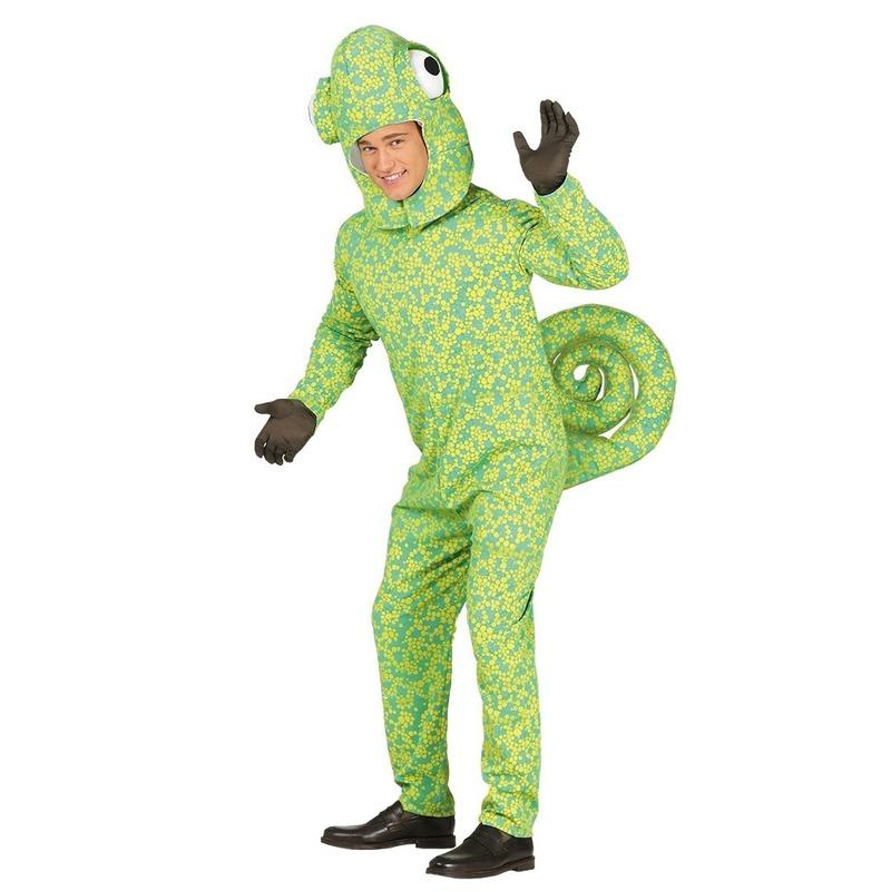 Groen kameleon kostuum voor volwassenen