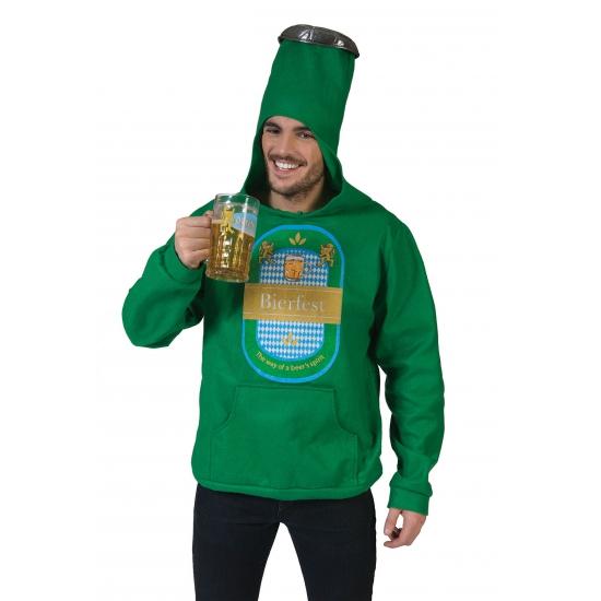 Groene bierfles trui