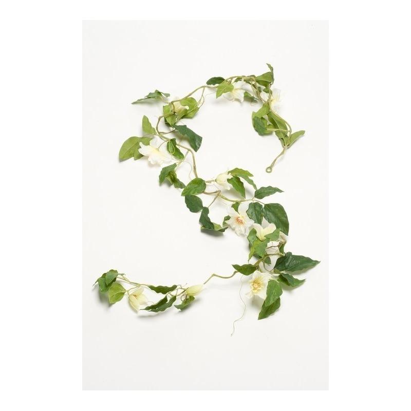 Groene Clematis kunsttak kunstplant 180 cm