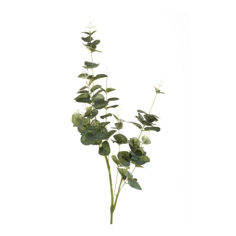 Groene Eucalyptus kunsttak kunstplant 75 cm