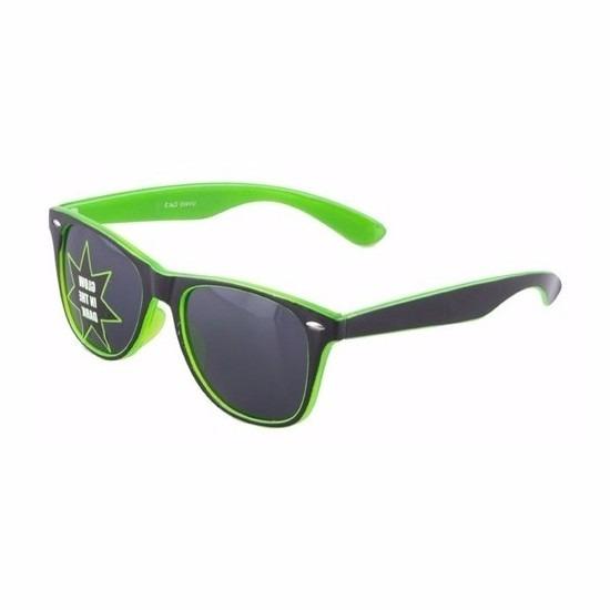 Groene glow in the dark zonnebril