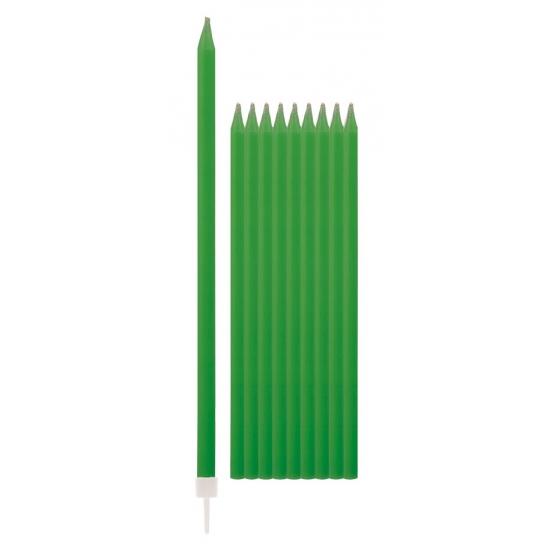 Groene kaarsen 15,5 cm