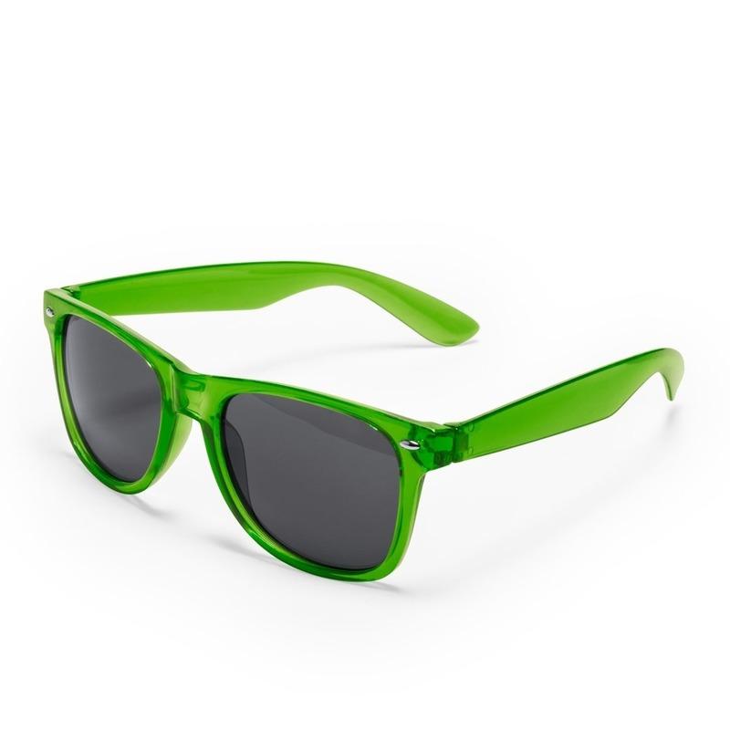 Groene retro model zonnebril voor volwassenen