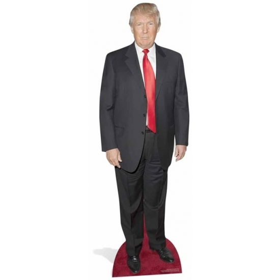 Groot decoratie bord Donald Trump