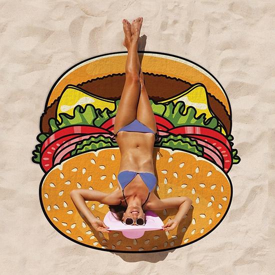 Grote hamburger badlaken 150 cm