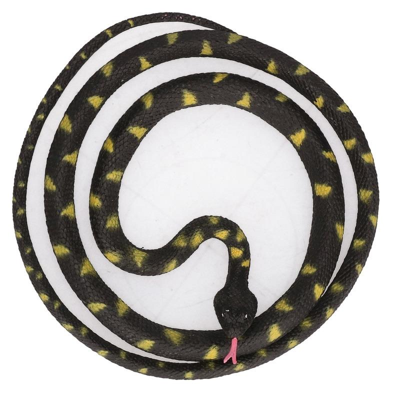 Grote rubberen speelgoed Python slangen zwart 137 cm