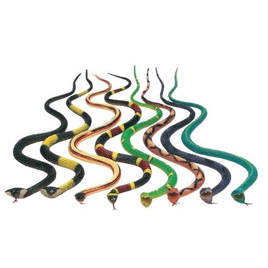 Halloween - 8x Plastic speelgoed dieren slangen 30 cm