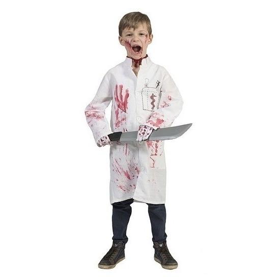 Halloween - Bebloede doktersjas voor kinderen maat 164