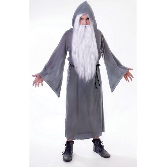 Halloween - Grijze tovenaars mantel