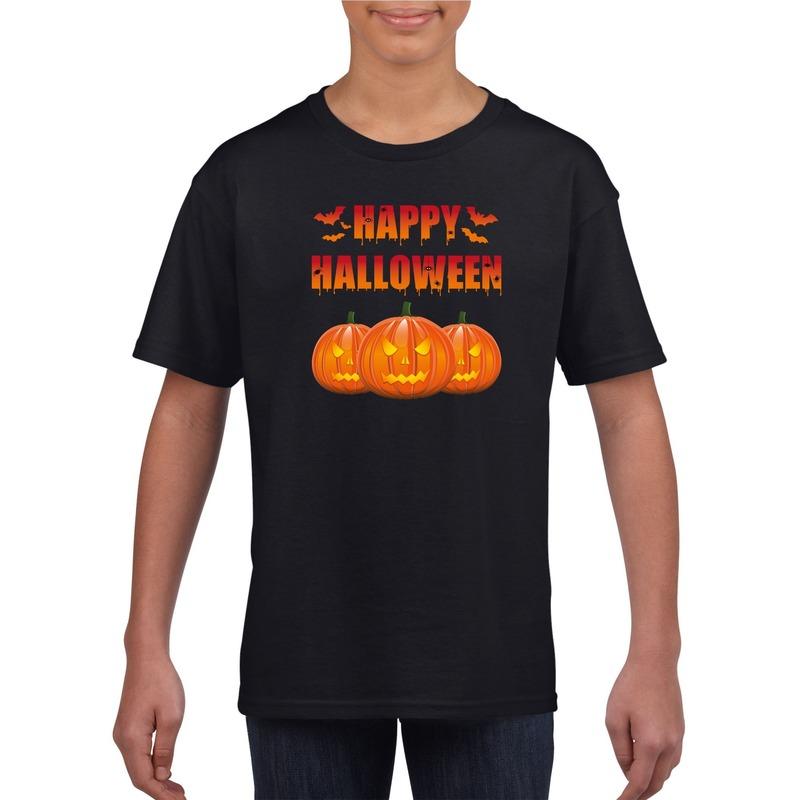 Halloween - Happy Halloween t-shirt zwart kinderen