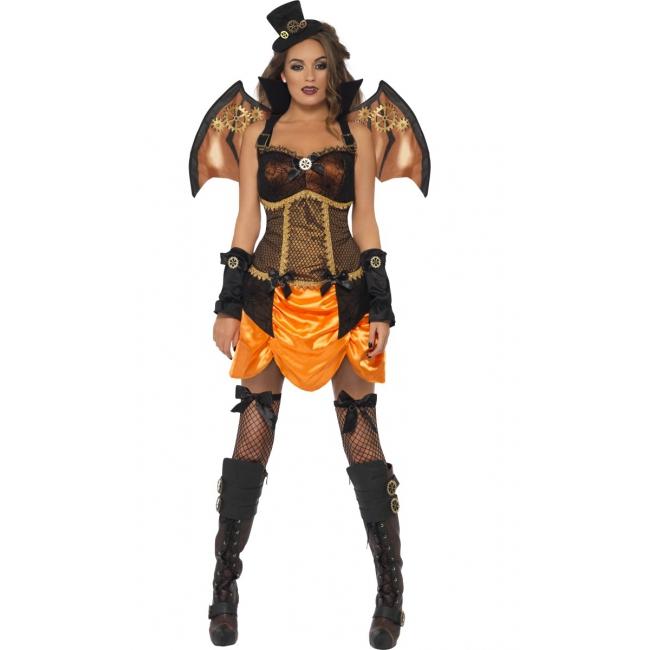 Halloween Sexy steampunk dames kostuum met vleugels