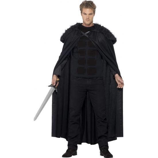 Halloween - Zwarte barbaar cape voor volwassenen