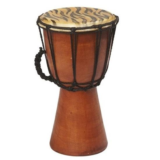 Handgemaakte drum/trommel met tijgerprint 25 cm