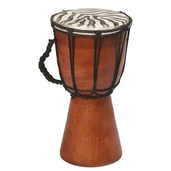 Handgemaakte drum/trommel met zebraprint 25 cm