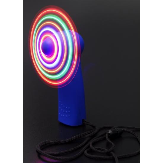 Handwaaier gekleurd met LED 11 cm
