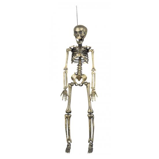 Hangdecoratie skelet goud 42 cm