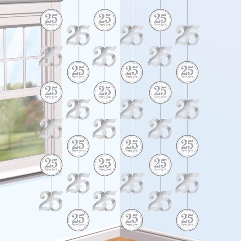 Hangdecoratie slingers jubileum 25 jaar