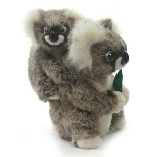 Hansa pluche koala knuffel met baby 28 cm