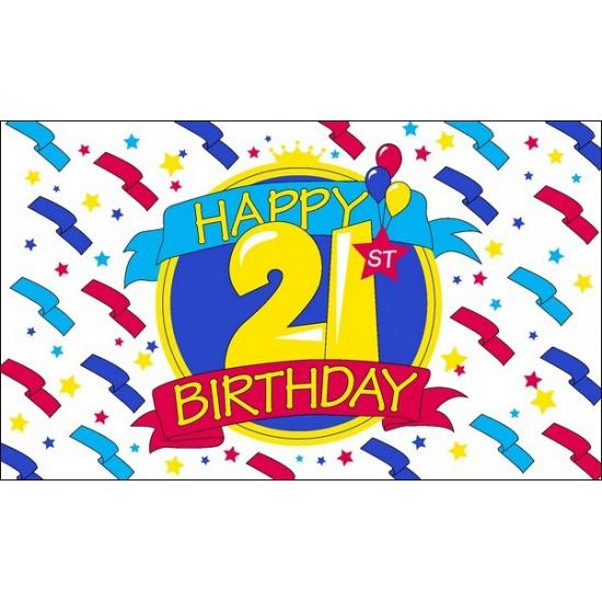 Happy Birthday vlag 21