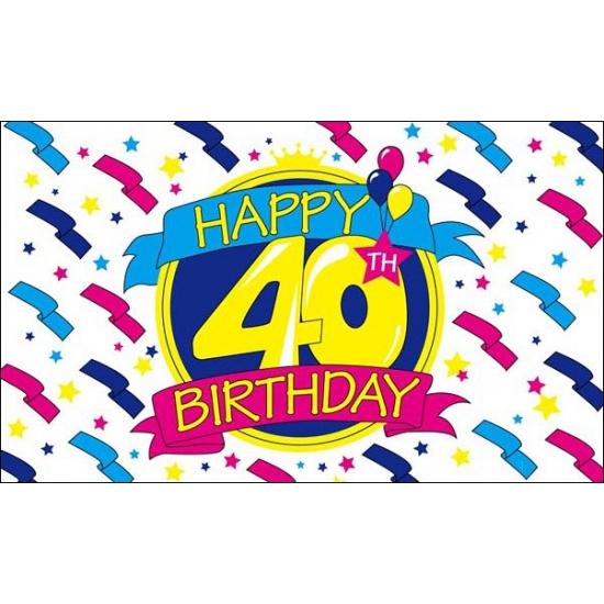 Happy Birthday vlag 40 jaar